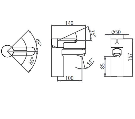 Technical drawing QS-V19554 / T991002