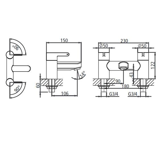 Technical drawing QS-V19556 / T993002