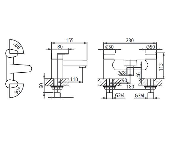 Technical drawing QS-V19562 / T773002