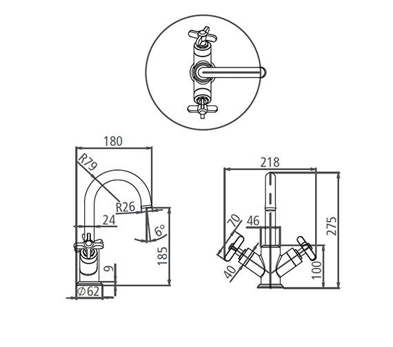 Technical drawing QS-V19564 / T661002