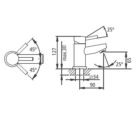 Technical drawing QS-V19568 / T226002