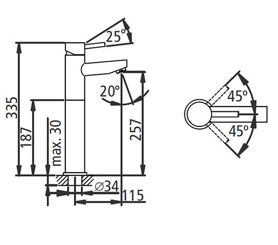 Technical drawing QS-V19573 / T225202