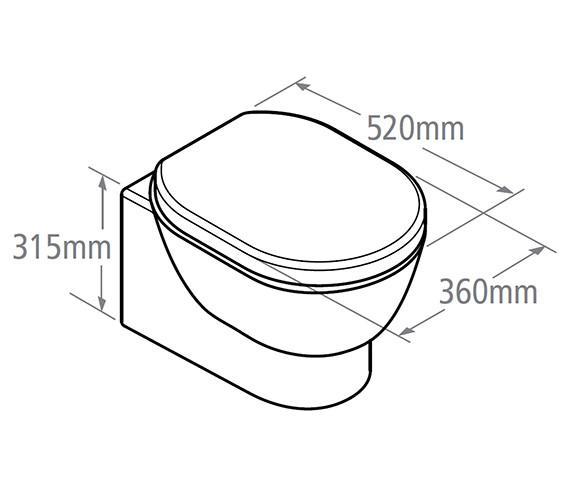 Technical drawing QS-V19586 / ZWHPAN50