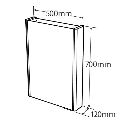 Technical drawing QS-V19605 / DN50W