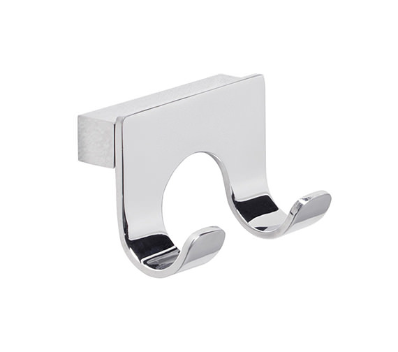Roper Rhodes Halo Chrome Finish Double Robe Hook - RB20.02