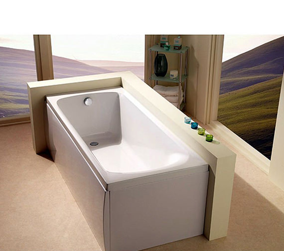 Additional image of Carron Arc Single Ended 5mm Acrylic Bath 1700 x 750mm