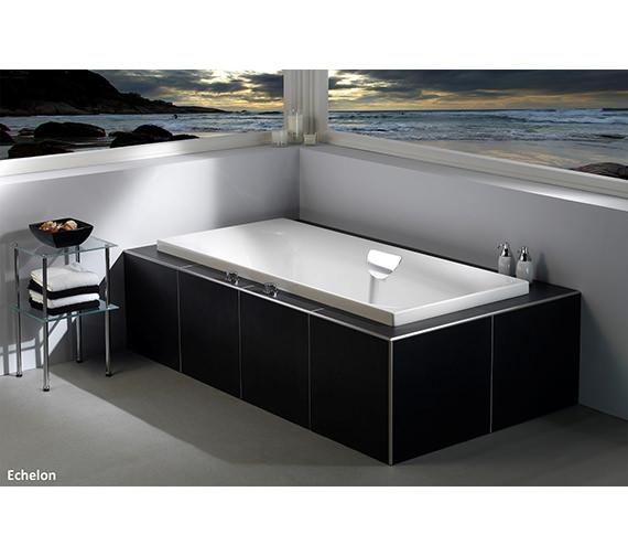 Additional image of Carron Echelon Double Ended 5mm Acrylic Bath 1700 x 750mm