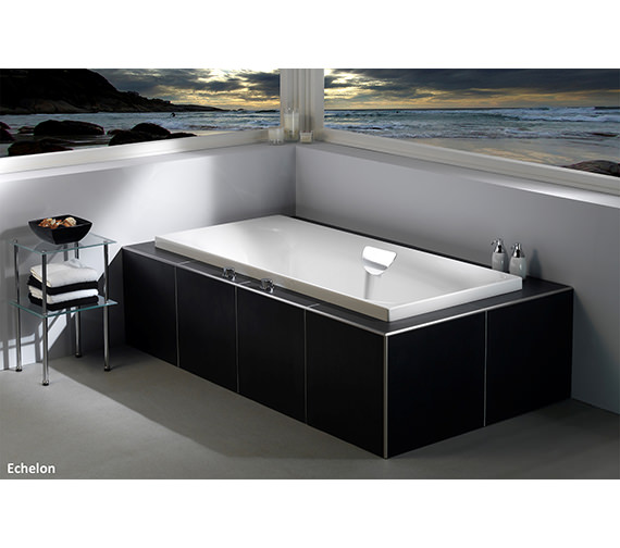 Additional image of Carron Echelon Double Ended 5mm Acrylic Bath 1800 x 800mm