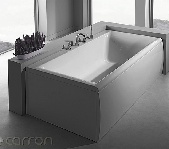 Additional image of Carron Haiku Double Ended 5mm Acrylic Bath 1800 x 900mm