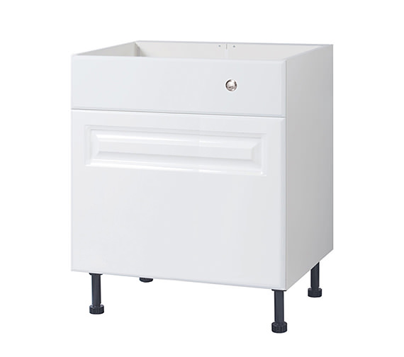 Balterley White Classic 700mm Cistern Base Cabinet With Legs Image