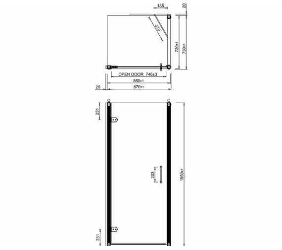 Technical drawing QS-V19885 / C21+C12