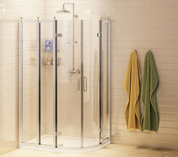 Burlington Offset Quadrant Shower Enclosure 1200 x 800mm - BU91
