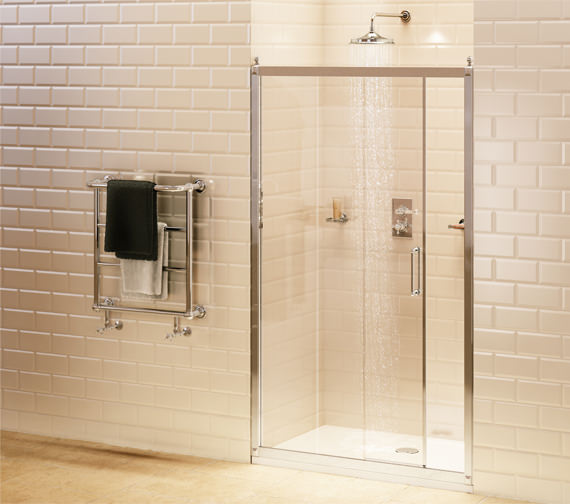 Burlington Soft Close Sliding Shower Door 1100mm