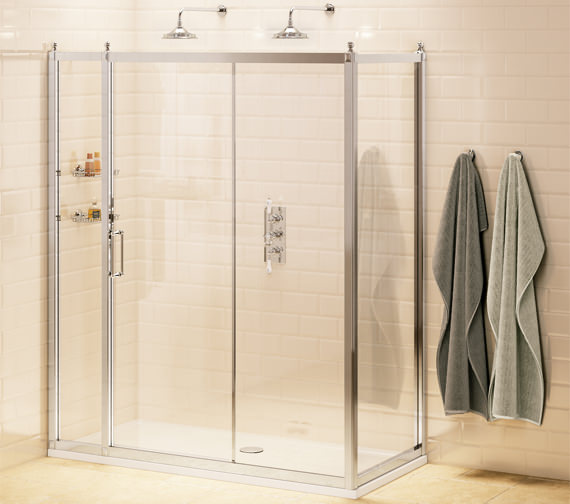 Burlington 120cm Slider With 30cm Inline Panel And 80cm Side Panel