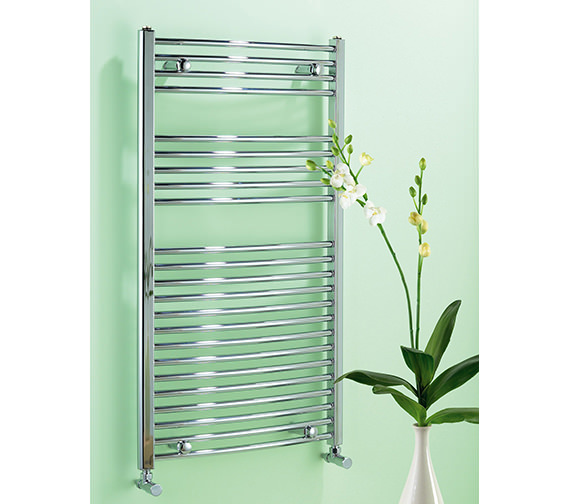 Biasi Dolomite Chrome Curved 500mm Wide Towel Rail