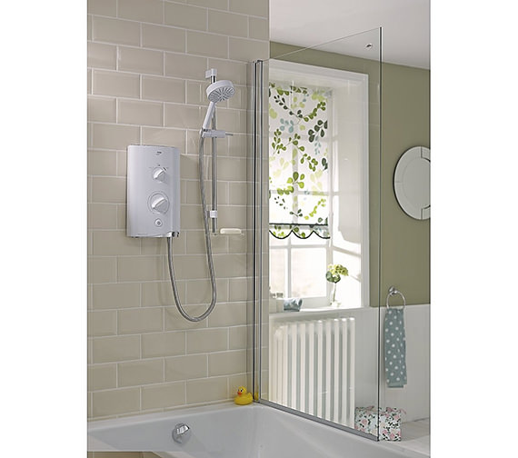 Additional image of Mira Sport Thermostatic Electric Shower 9.8 KW White and Chrome