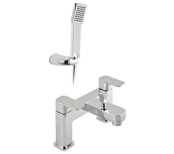 Vado Phase 2 Hole Bath Shower Mixer Tap With Shower Kit