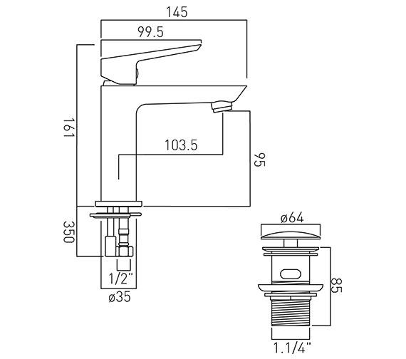 Technical drawing QS-V20568 / PHO-100M/CC-C/P
