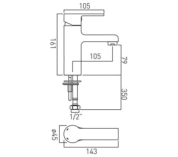 Technical drawing QS-V20580 / ION-100/SB-C/P