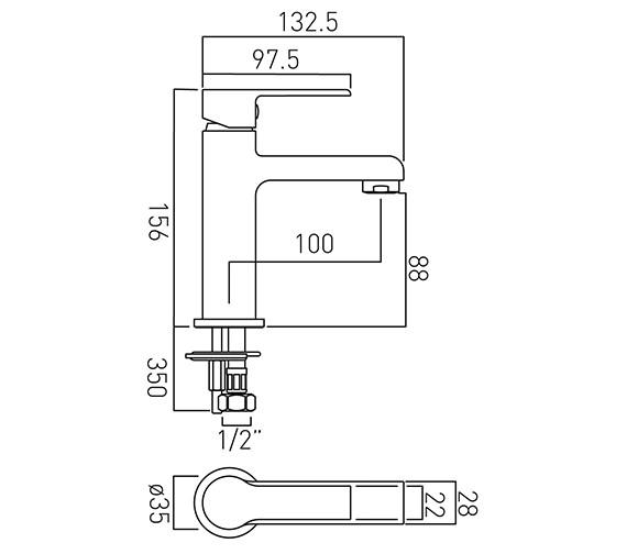 Technical drawing QS-V20582 / ION-100M/SB-C/P