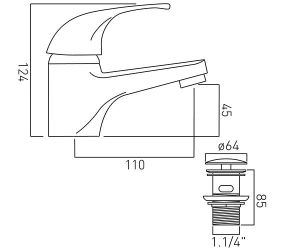 Technical drawing QS-V20593 / MAT-100/CC-C/P