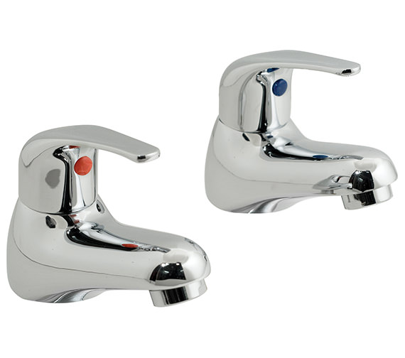 Vado Matrix Deck Mounted Bath Pillar Taps - MAT-136