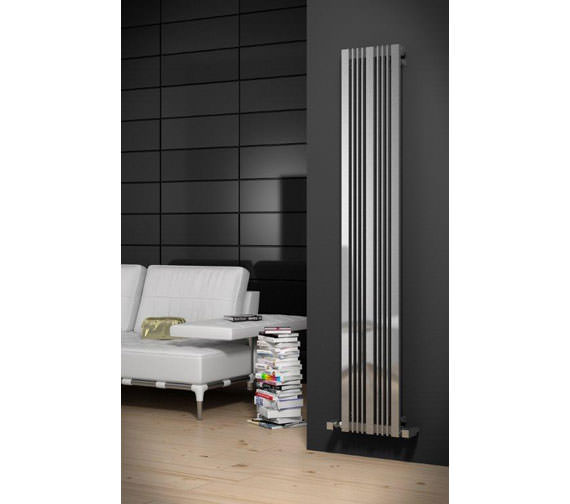 Alternate image of Reina Karia Stainless Steel Designer Radiator 300x1800mm - RNS-KR3018