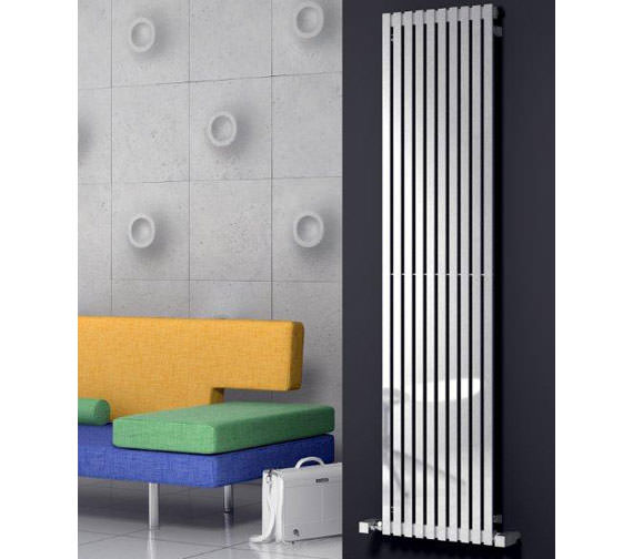 Alternate image of Reina Xeina Stainless Steel 417x2000mm Designer Radiator - RNS-XE41720