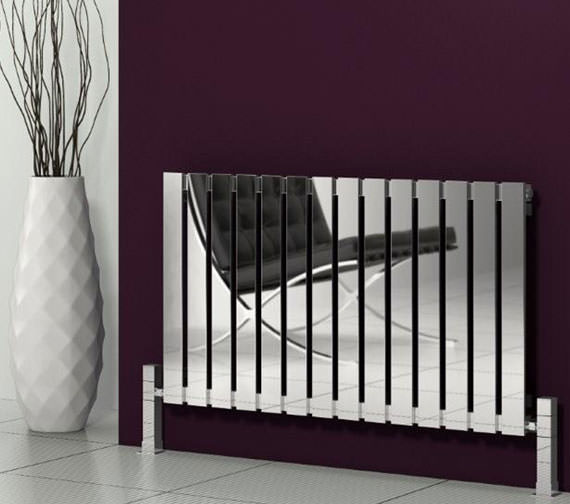 Alternate image of Reina Calix 435 x 600mm Designer Radiator Polished - RNS-CLX6435
