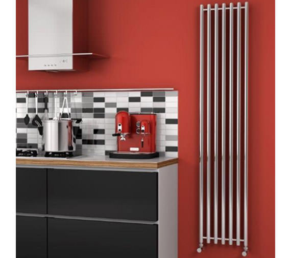 Alternate image of Reina Broni 374 x 1800mm Designer Radiator Polished - RNS-BR3718