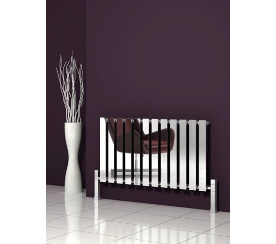 Alternate image of Reina Pienza Designer Radiator 655 x 550mm Chrome - RND-PNZ655