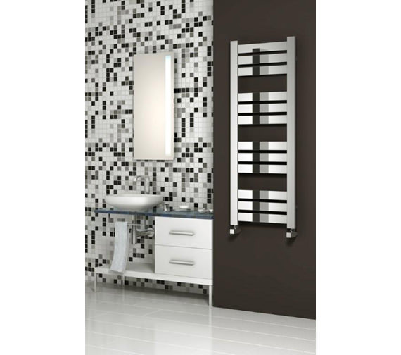 Alternate image of Reina Riva Designer Radiator 500 x 960mm Chrome - RND-RV5096