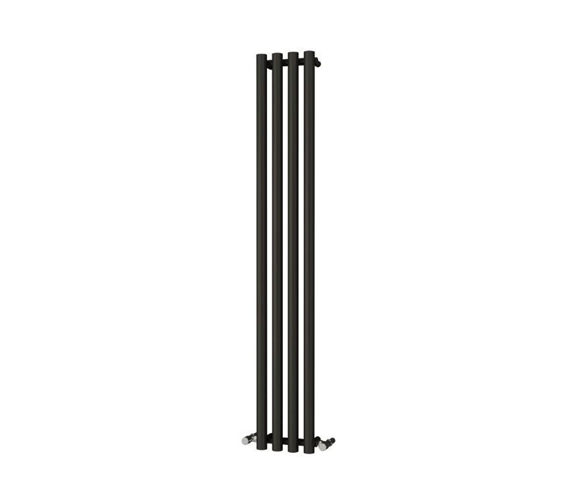 Reina Oria Designer Radiator 270 x 1800mm Black - RND-OR2718B