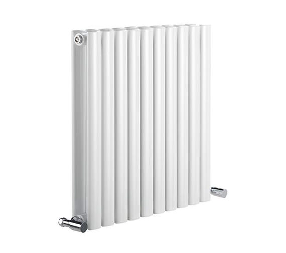 Reina Neva Double Panel Designer Horizontal Radiator 1180 x 550mm White