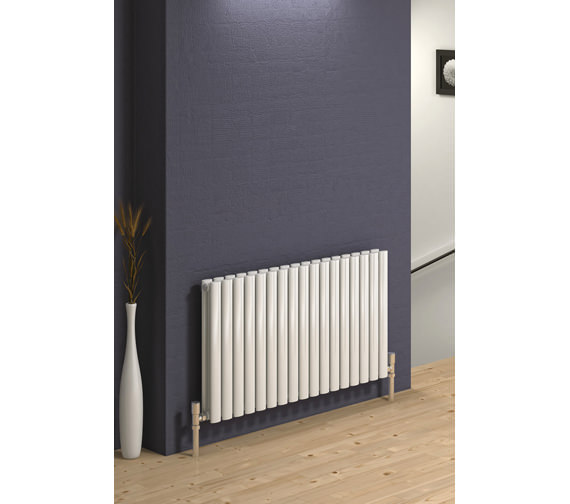 Alternate image of Reina Neva Double Panel Designer Horizontal Radiator 1180 x 550mm White