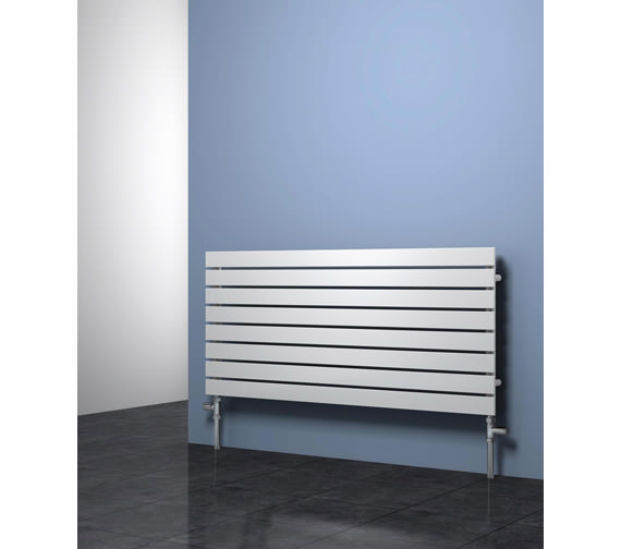 Alternate image of Reina Rione Designer Radiator 1200mm X 550mm White - RND-RNE1200