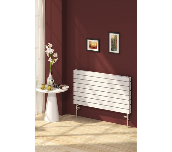 Alternate image of Reina Rione Double Designer Radiator 800mm X 550mm White - RND-RNE800D