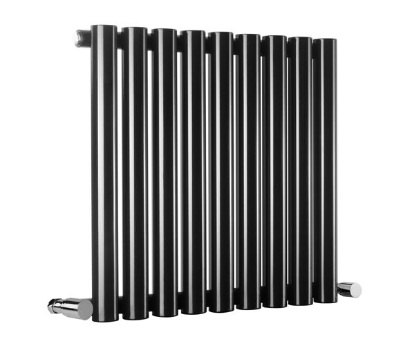 Reina Sena Designer Radiator 990 X 550mm Black Finish - RND-SN15B