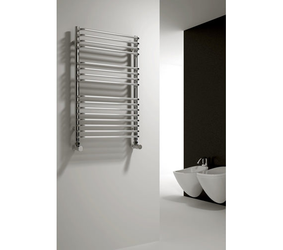 Alternate image of Reina Isaro Designer Radiator 500 x 800mm Chrome Finish - RND-ISR5080