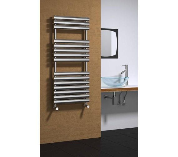 Alternate image of Reina Helin Stainless Steel Designer Radiator 500 x 826mm-RNS-HLN5080P