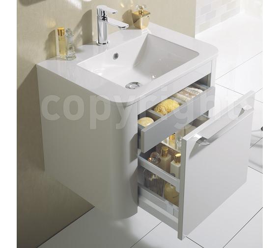 Bauhaus Celeste Single Drawer Unit 800mm White Gloss