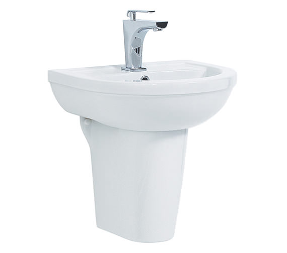 Phoenix Emma Basin And Semi Pedestal 560mm Wide