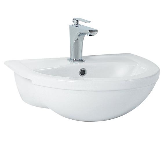 Phoenix Emma Semi Recessed Basin 520mm x 420mm - EM026