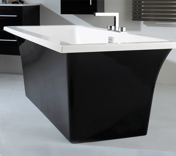 Phoenix Assai Bath With Black Surround 1700 x 750mm - ASS1775BL