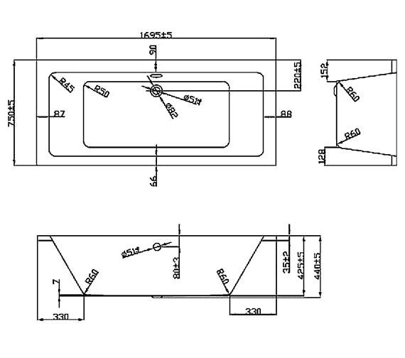 Technical drawing QS-V37612 / BH081