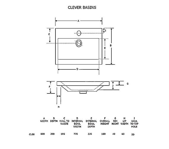 Technical drawing QS-V21247 / CL80