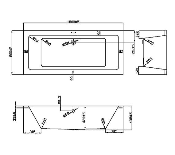 Technical drawing QS-V37613 / BH082A