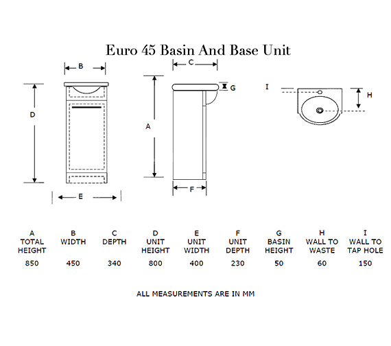 Technical drawing QS-V21285 / EURO45MA
