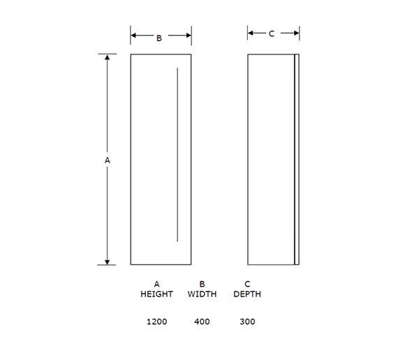 Technical drawing QS-V21305 / FZ40W