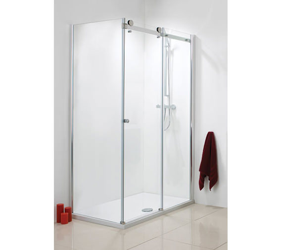 Phoenix Frame-less Single Slider Shower Door 1200mm